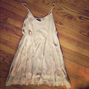 Aqua Cream and Lace Mini Dress